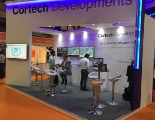 Cortech show stand Intersec 2017