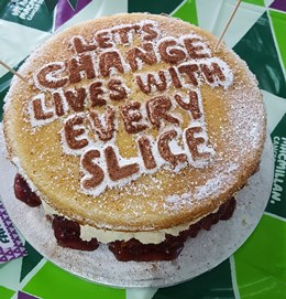Cake for charity at Cortech