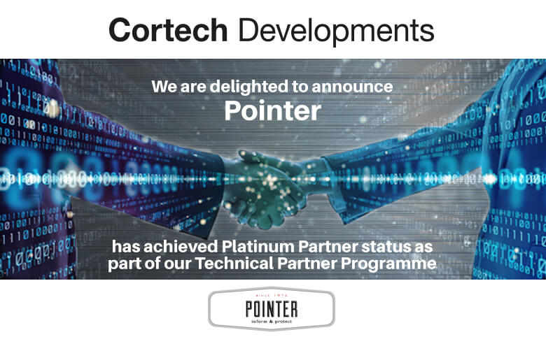 Pointer Join Cortech Developments as a Platinum Technical Partner